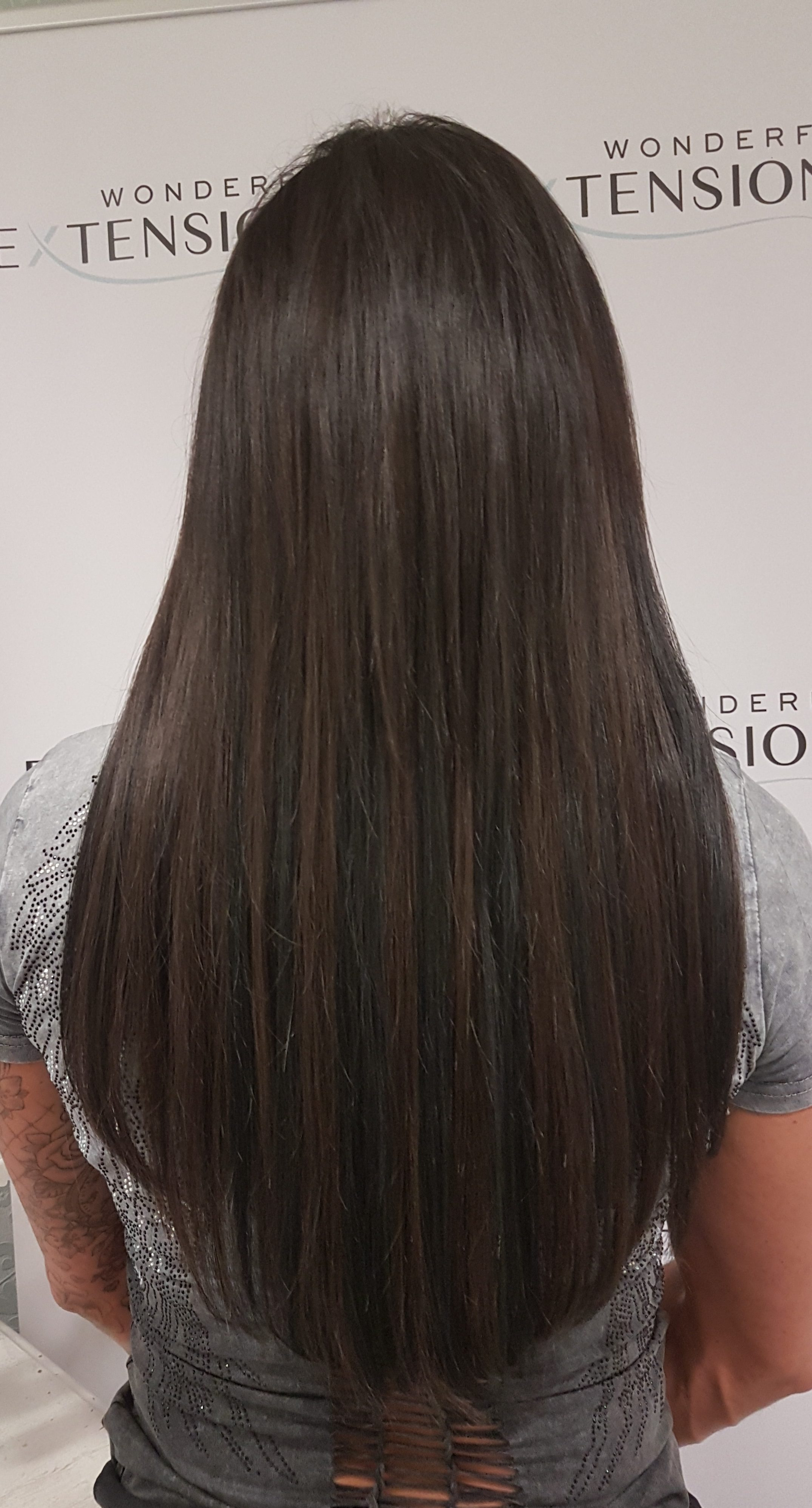 Hair Extensions London - Long Dark Brown